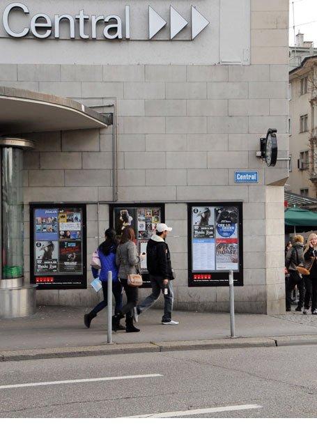 Plakataushang Zürich Central