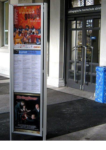 Plakataushang Pädagogische Hochschule Zürich
