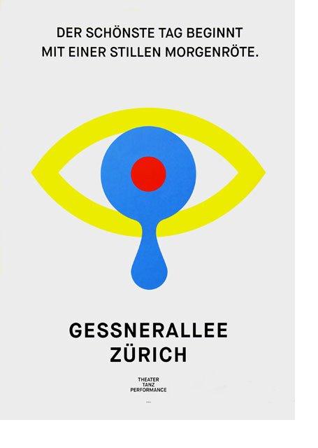 Plakat Gessnerallee Zürich