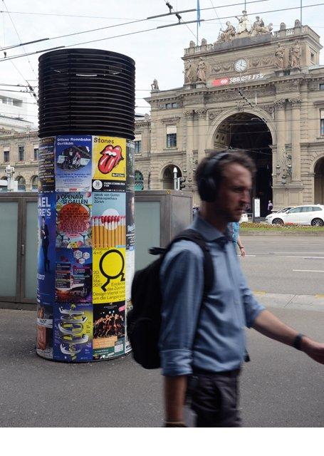 Promotion Rolling Stones Zürich