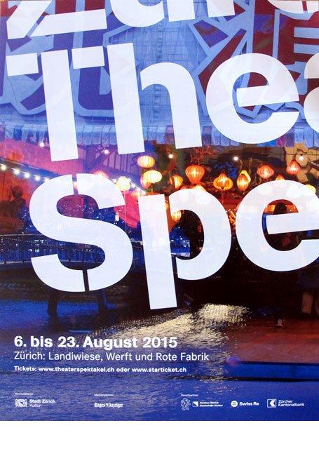 Plakat Promotion Zürcher Theaterspektakel