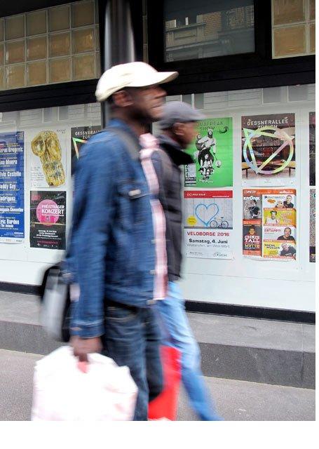 Plakataushang Zürich Bäckerstrasse