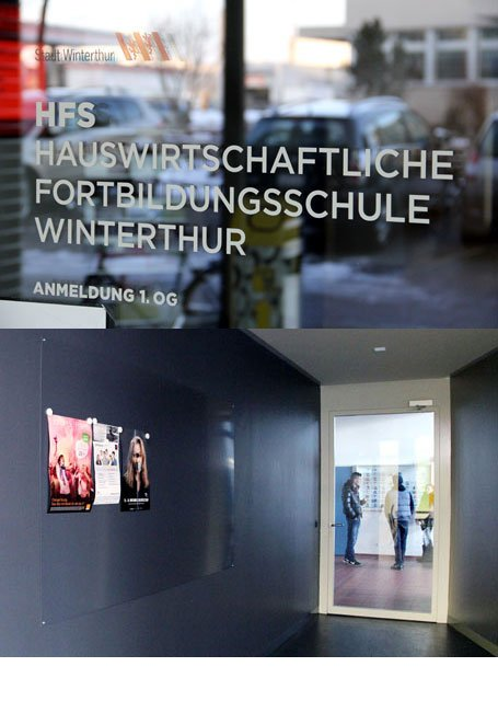 Plakataushang HFS Winterthur