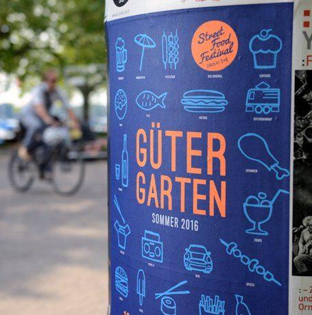 Plakataushang Güter Garten Zürich