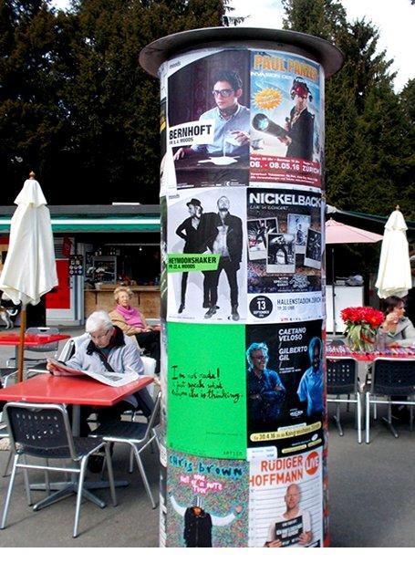 Plakataushang Artism Zürich
