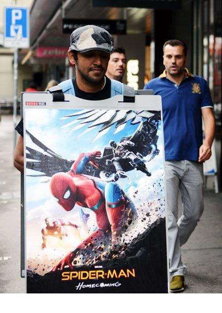 Sandwichman Filmpromotion Spider-Man