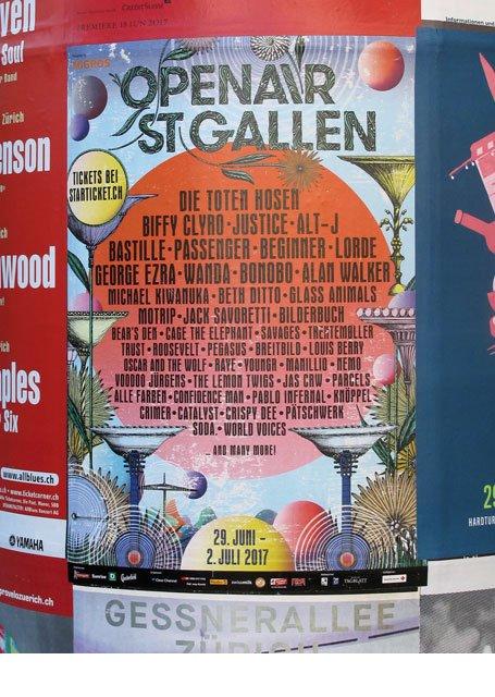 Plakat promotion OpenAir St. Gallen