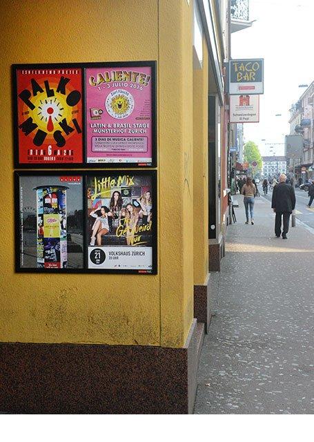 Plakataushang Zürich Langstrasse