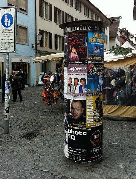 Plakataushang Zürich Niederdorf