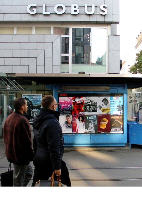 Plakataushang Zürich Globus Bahnhofstrasse