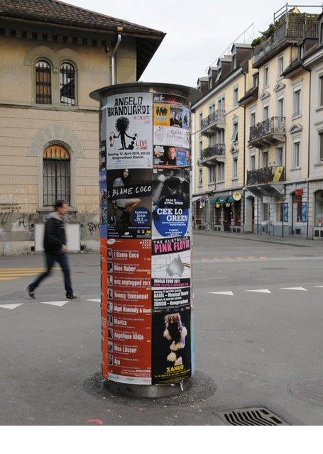 Plakataushang Zürich Kreis 4
